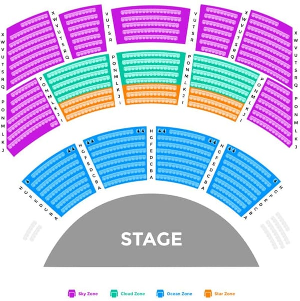KAAN Show Seating Map